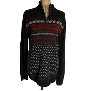 NWT Ministry of Fashion black fair isles sweater